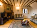 Enjoy the log burning stove in the lounge