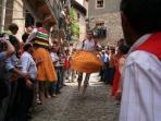 Danza de los zancos, Anguiano, (partido de Nájera)