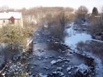 View from one of the bridges in Ingleton looking up river