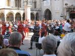 Dubrovnik Old Town, performances of folklore group 'Moreska' from the island of Korcula