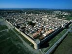 Aigues Mortes from the air.