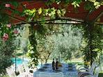 La Casa Colonica - Lunch under the Pergola near the pool