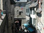 Le Mont St.Michel main street