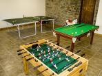 Games room to keep the children entertained