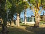 View of sea from villa garden