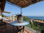 Apartment Torretta - terrace on the Gulf of Patti