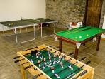 Games rooms to keep the children entertained