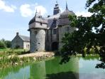 The 12thC Manoir de la Saucerie, now under restoration,  is 15 mins by car and is free to view.