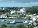 View from the villa overlooking the Yacht Club