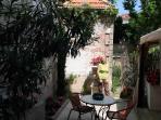 le jardin avec mon épouse