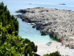 Alaties Beach, 400 meters from the villa