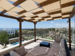 The third floor roof terrace with 360 degree views