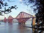 Just a short walk from Crawsteps and the world famous Forth Rail Bridge is framed by summer foliage