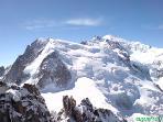 Mont Blanc viewpoint Aiguille du Midi.