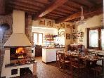 sala da pranzo e cucina casa padronale