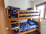 Cute children's bunk room.