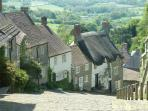 Famous Gold Hill in Shaftesbury. Well known from the Hovis bread advert
