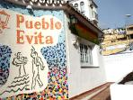 Pueblo Evita reception (opposite the apartment block)