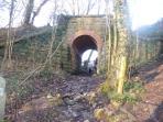 The cinder track entrance