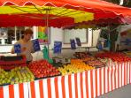 Fontenay market - Saturday morning.  10 minute stroll from the house