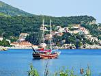 Sail boat in Zaton