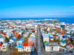 Reykjavik city centre, colourful and clean..