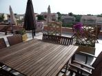 Roof terrace showing the wooden planter dividers - summer 2011