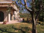 Apartment, gazebo, loggia and terrace at villa in the vineyard