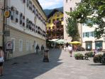 The town square - just moments away
