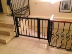 Safety Gate at the top of stairs for families with toddlers