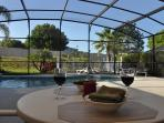 Relax with a drink by your own Private South facing pool