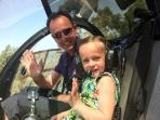 holidayactivities for the whole family: heli flight above the Bay of St Tropez