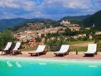 La vista di Spoleto dalla nostra piscina