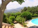Studio 'Rêve' of guesthouse Aux Merveilleux in Grimaud - view from terrace