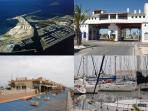 Puerto Tomas Maestre marina comes alive at night with its many bars and restaurants