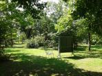il parco con l'angolo ping pong (in condivisione con i proprietari del parco)