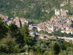View of Dolceaqua located in next valley