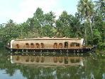 Houseboat bay at Kumarakom