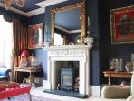 William IV Fireplace with wood burning stove