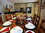 Chalet Hunter ~ Lovely dining area to enjoy a meal with family and friends