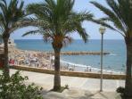 Blue Flag Beach Beach at L'Ametlla de Mar in July
