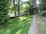 Gardens - These are the beautiful original 1.5 acres of landscaped gardens of The Wye Rapids Hotel