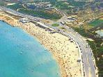 Il Ghadira beach (15 min walk - malta's largest sandy beach)
