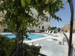 Pool area with Villa Efes on the right