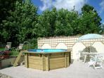 splash pool and terrace