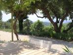 Terrace of studio 'Romantique' in Aux Merveilleux - Grimaud near St Tropez