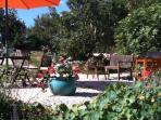 The terrace/barbecue area