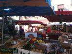 Friday morning market at nearby Souillac