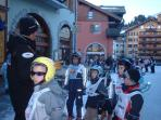 Ski lessons begin in the Village
