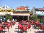 Great local restaurants serving British, Chinese, Italian and Cypriot cuisine.
